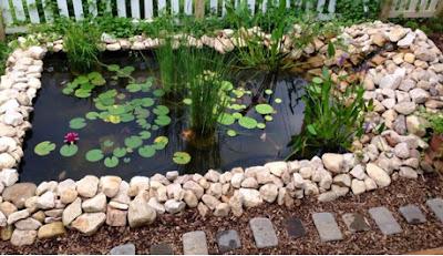 A mi manera idea para hacer un estanque en casa - Como decorar un estanque ...