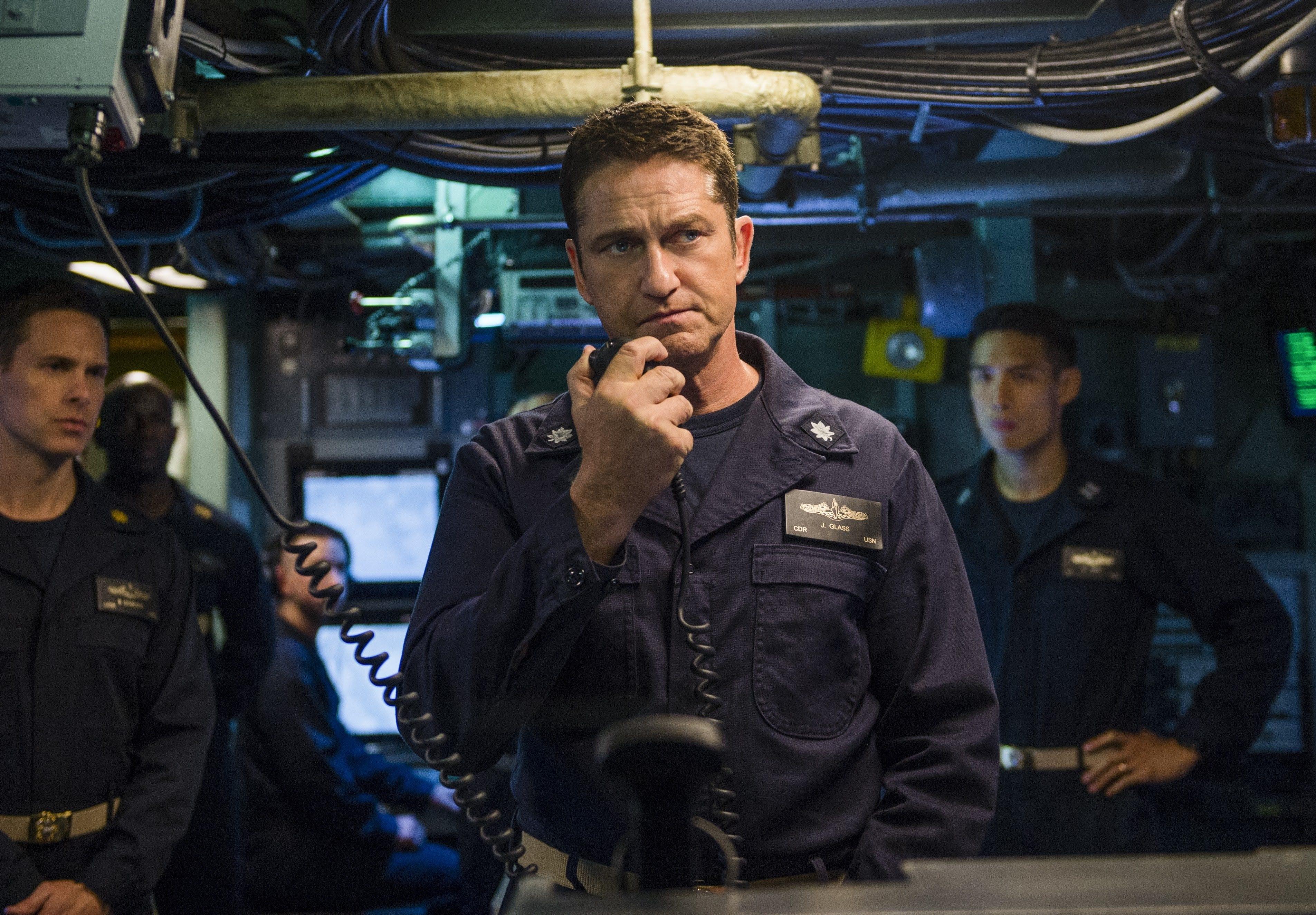 Box Office : 10月26日~28日の全米映画ボックスオフィスTOP5の第5位 - ジェラルド・バトラー艦長の潜水艦が浮上を果たせず、軍事スリラーのアクション映画「ハンター・キラー」が期待を大きく裏切った沈没の初登場第5位 ! !