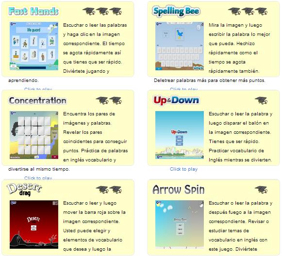 Juegos Para Aprender Ingles Edutic