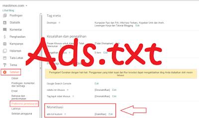 Pengertian, Penjelasan dan cara Memasang Ads.txt di Blogger