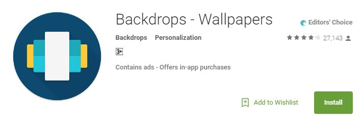 https://play.google.com/store/apps/details?id=com.backdrops.wallpapers&hl=en