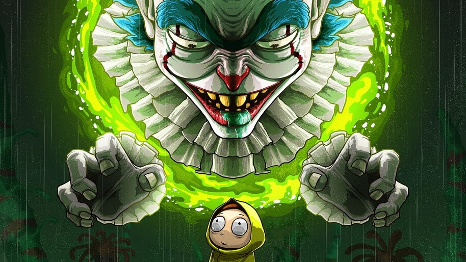 Pennywise Clown Rick And Morty 4k Wallpaper 5121