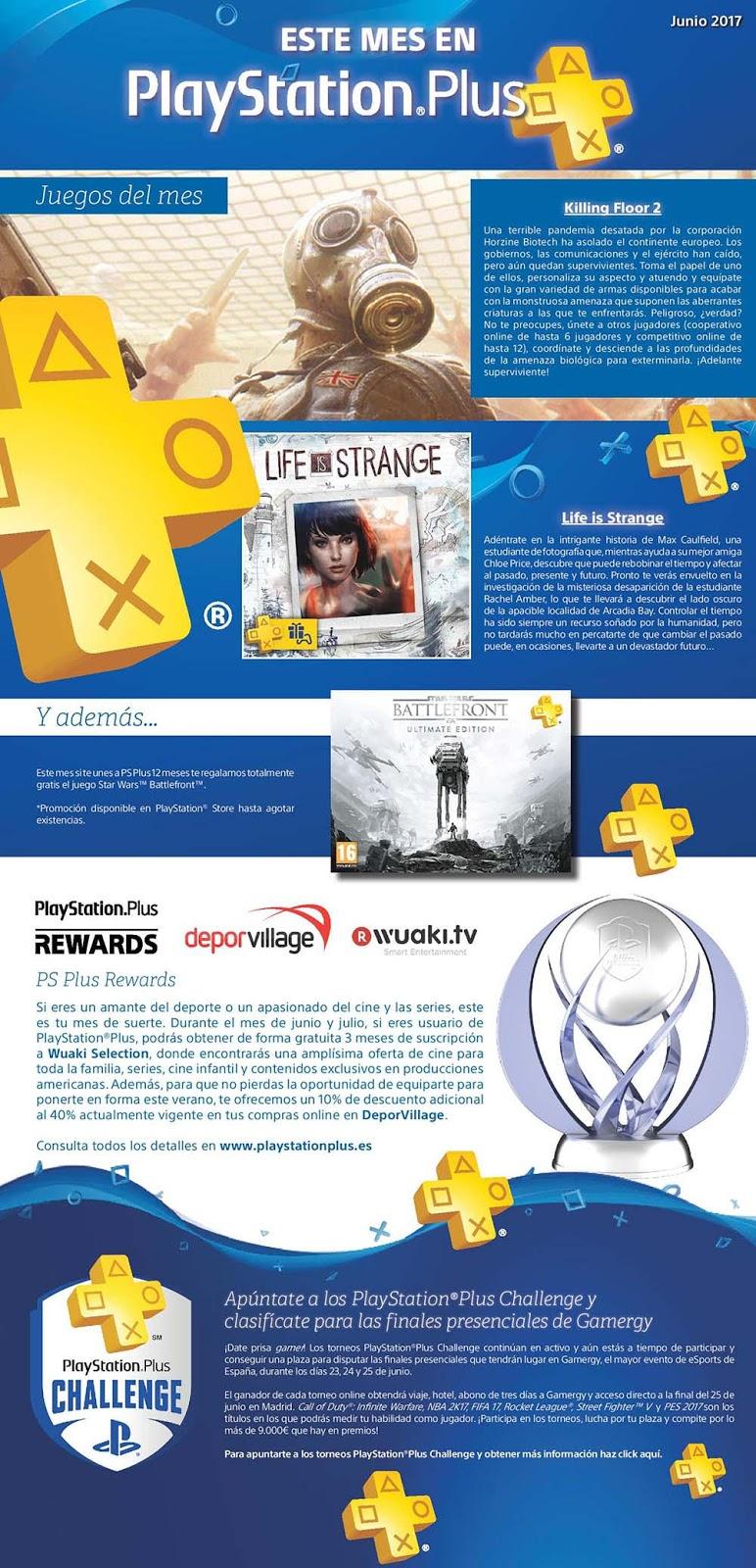 PlayStation Plus en junio: Challenge, Star Wars Battlefront gratis al suscribir y más