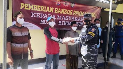 Masyarakat di Pesisir Binuangeun Banten terima batuan beras 1 Ton dari Ditpolairud