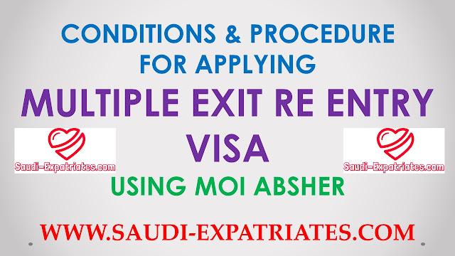 MOI.GOV.SA ABSHIR MULTIPLE EXIT REENTRY VISA