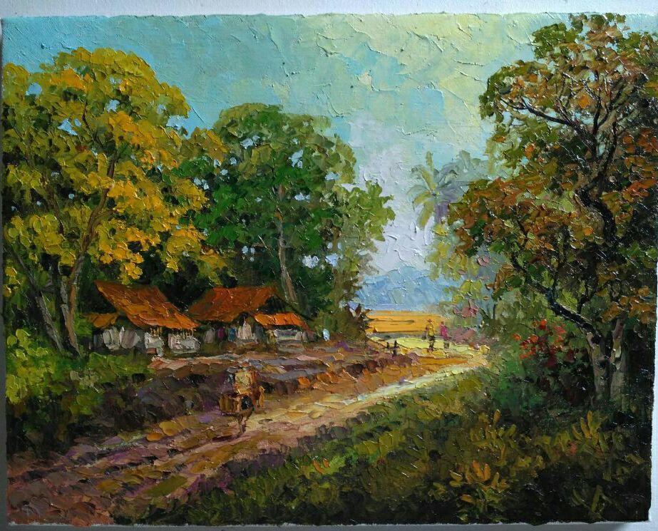 Lukisan cat minyak di ...