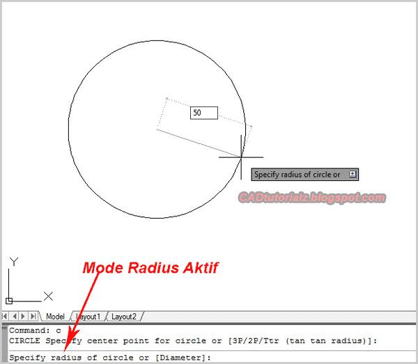 cara membuat lingkaran di autocad 2d