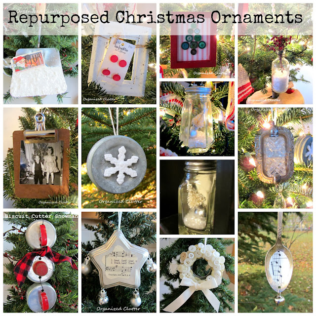 Re-purposed Christmas Tree Ornaments www.organizedclutterqueen.blogspot.com