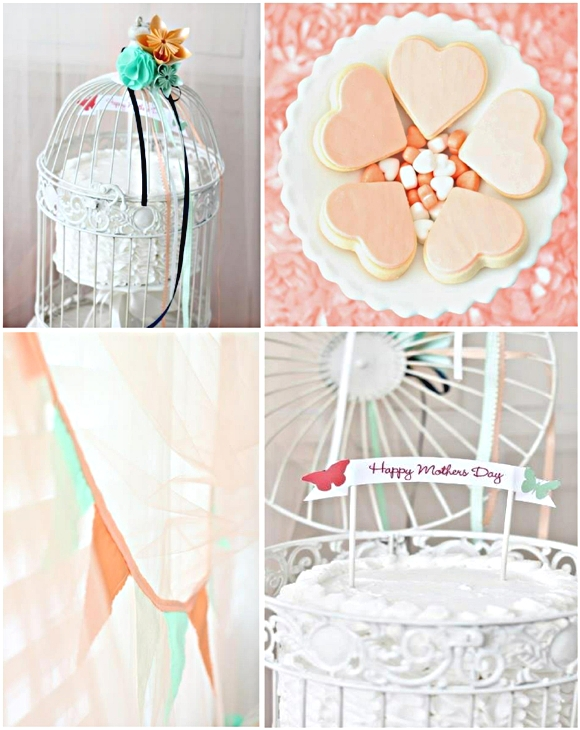 Mother's Day Desserts Table Ideas - via BirdsParty.com