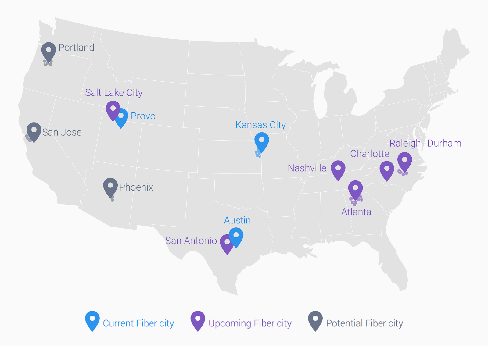 Google Fiber Blog Everythings Faster In Texas Google Fiber Is - San antonio on us map
