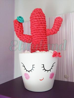 Cactus Trapillo Rosa Maceta Crochet DIY