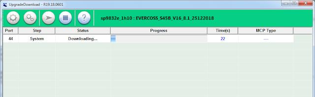 flashing evercoss s45b berjalan