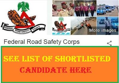 FRSC Shortlisted Candidates