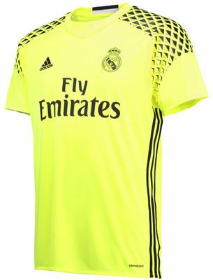 camiseta segunda equipación portero Real Madrid 2016-2017