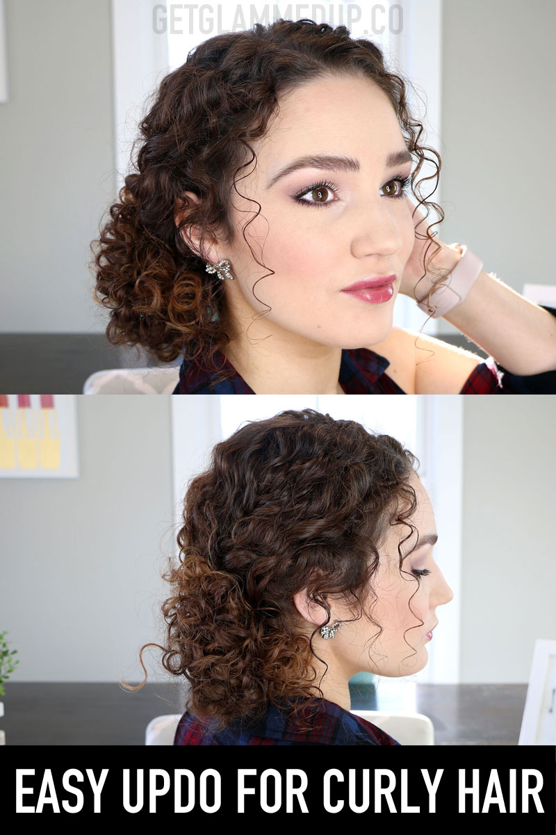 Easy Messy Bun Updo for Naturally Curly Hair