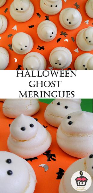 Easy ghost meringues for Halloween