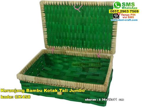 Keranjang Bambu Kotak Tali Sedang