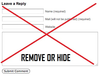 How To Remove Default Comment Box From Blogger / Blogspot