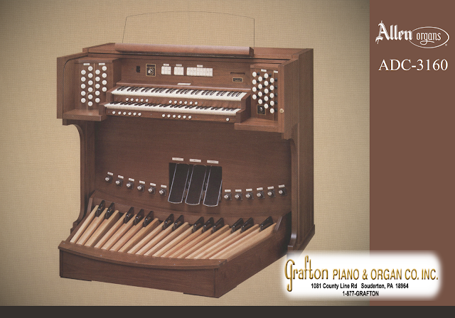 ADC-3160 Allen Organ brochure front