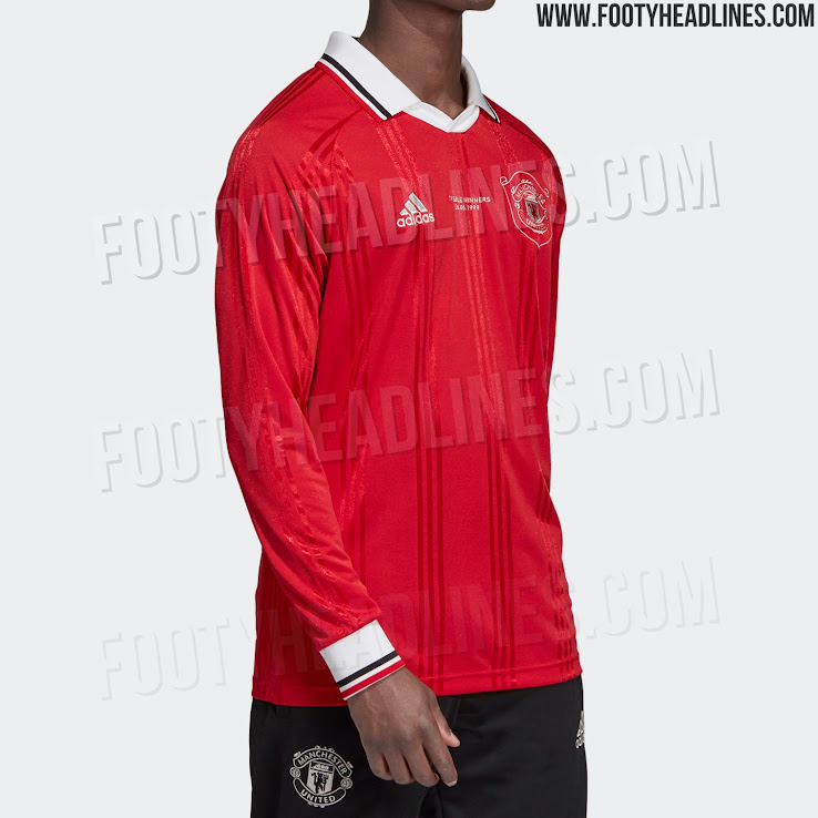 1999 Treble Inspired Adidas Manchester United 19 20 Icon Retro Jersey Released Footy Headlines