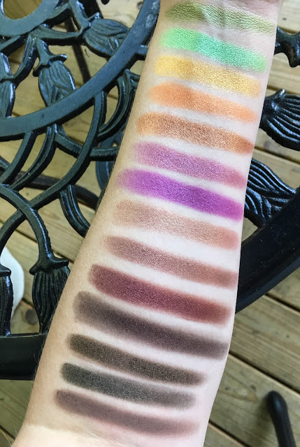 coastal scents shadow pots hot pots 2017 palette swatches swatch swatched