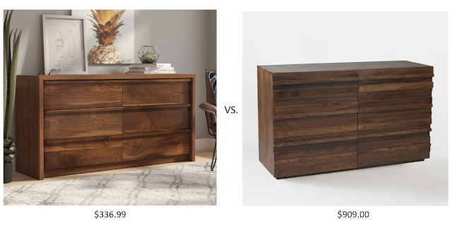 Look for Less West Elm Stria Dresser vs. the Mercury Row Posner Dresser