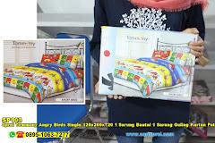 Sprei Tommony Angry Birds Single 120x200xT20 1 Sarung Bantal 1 Sarung Guling Kartun Putih Kuning Biru Merah Anak Remaja