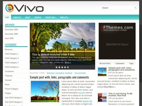 Free Vivo Clean and Modern General WordPress Theme