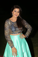 Nikki Galrani in Green Skirt  Top at Marakathamani music launch ~  Exclusive (133).JPG