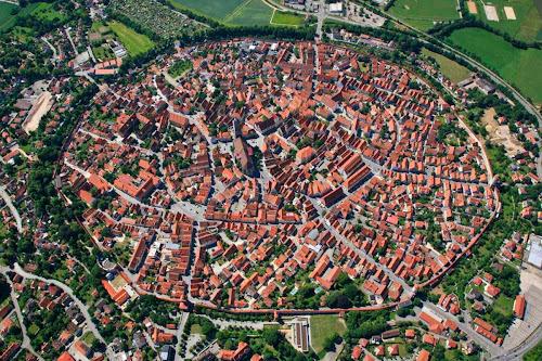 vista aérea de Nordlingen
