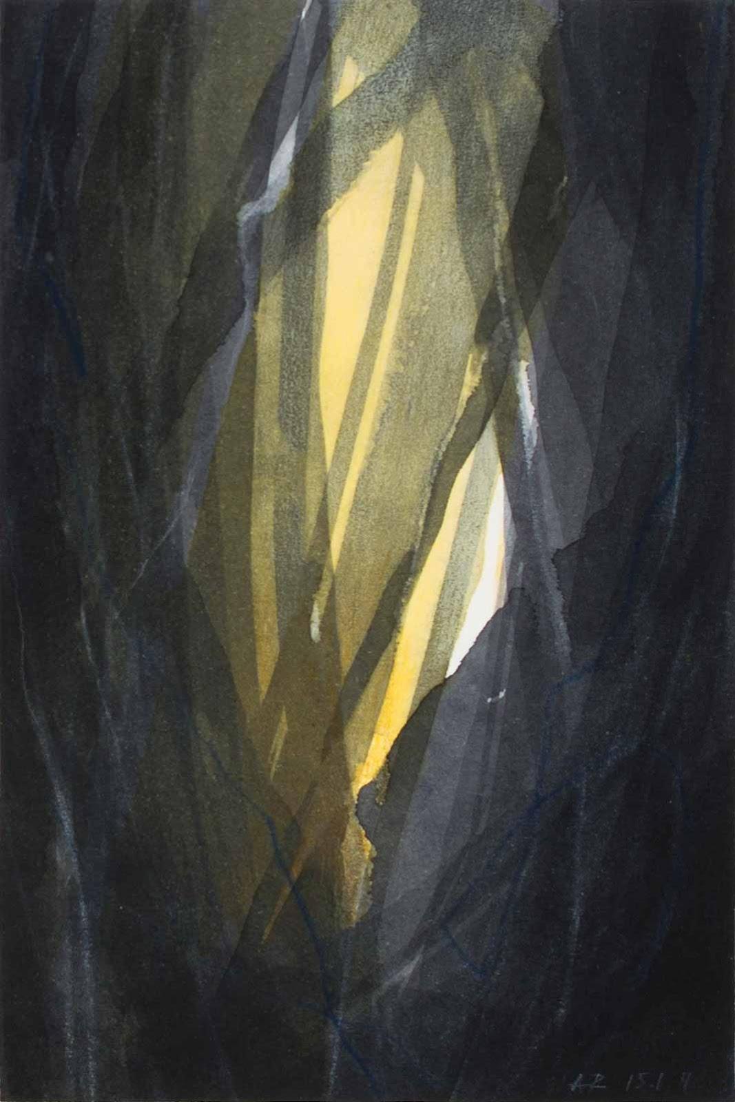 9 x 13 cm, aquarelle et encre sur papier