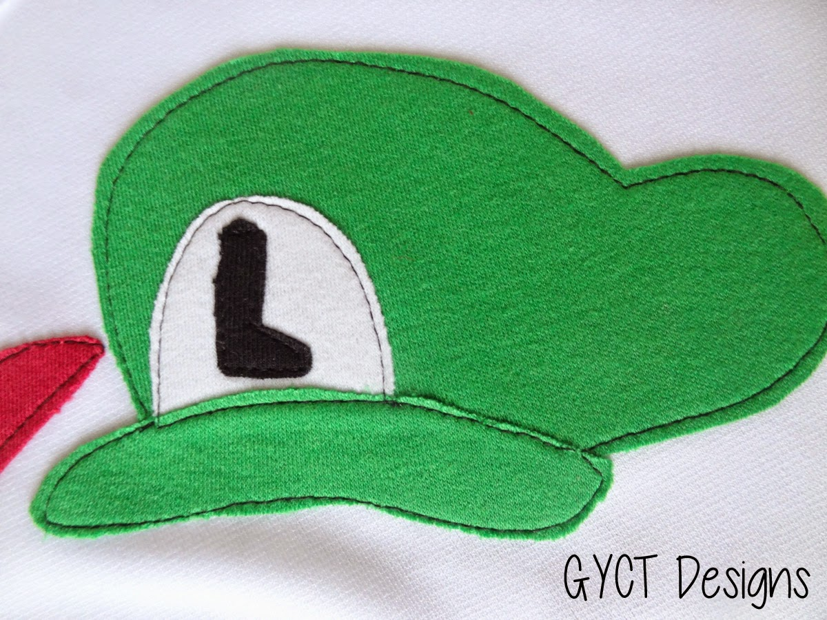 Mario & Luigi Applique Pattern and Tutorial By GYCT Designs