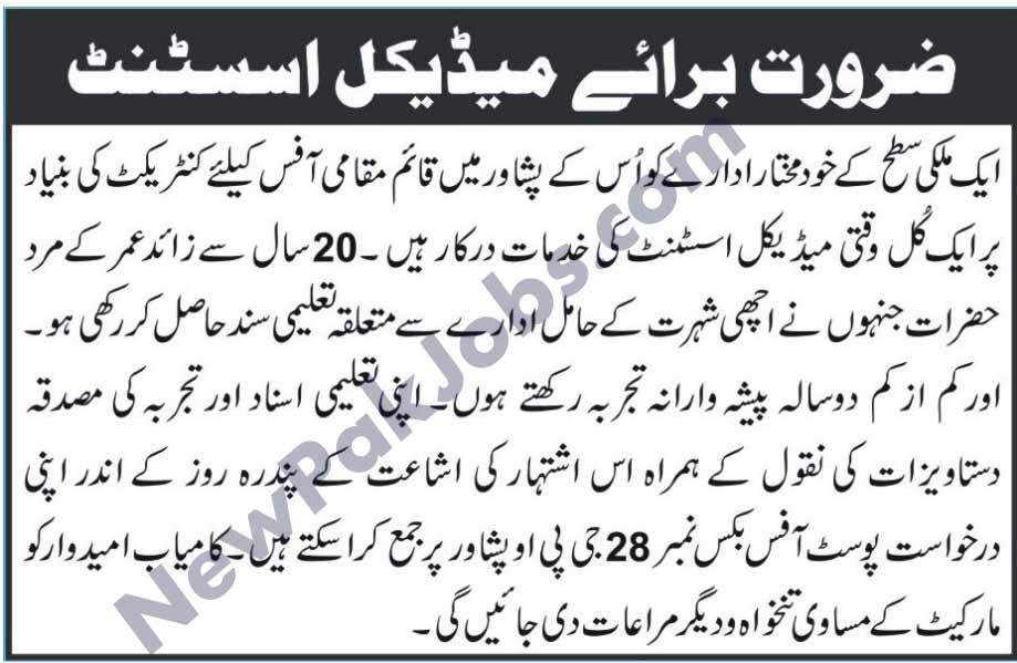 Medical Officer Jobs in Peshawar