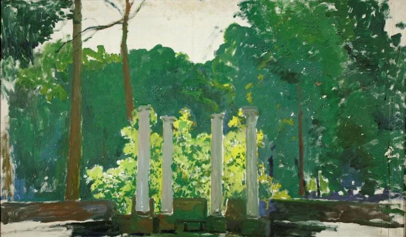 Santiago Rusiñol. Jardín de Aranjuez (obra inacabada) 1931. Exposición Jardines de España