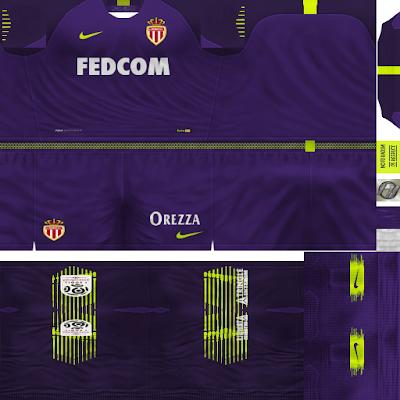 PES 6 Kits AS Monaco Season 2018/2019 by FacaA/Ngel