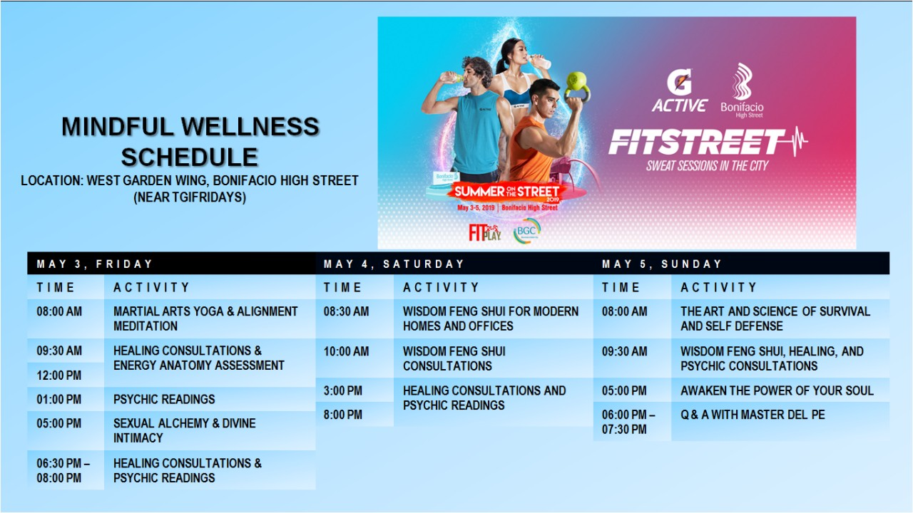 List of fitness classes at West Garden Wing.