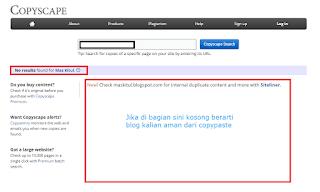 halaman penggunaan copyscape