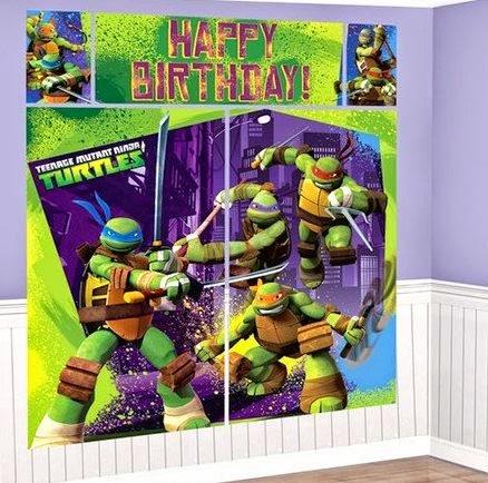 teenage mutant ninja turtles themed birthday party supplies and