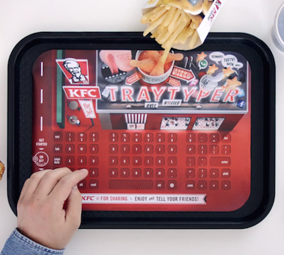 KFC Food Tray Now Connects Your Smartphone Keyboard