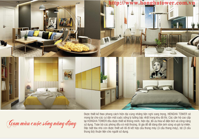 Phối cảnh thiết kế mẫu căn hộ Hồng Hà Tower