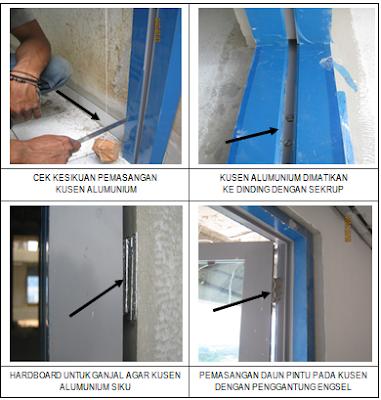 Pelaksanaan Pekerjaan Pintu, Kusen dan Jendela Alumunium