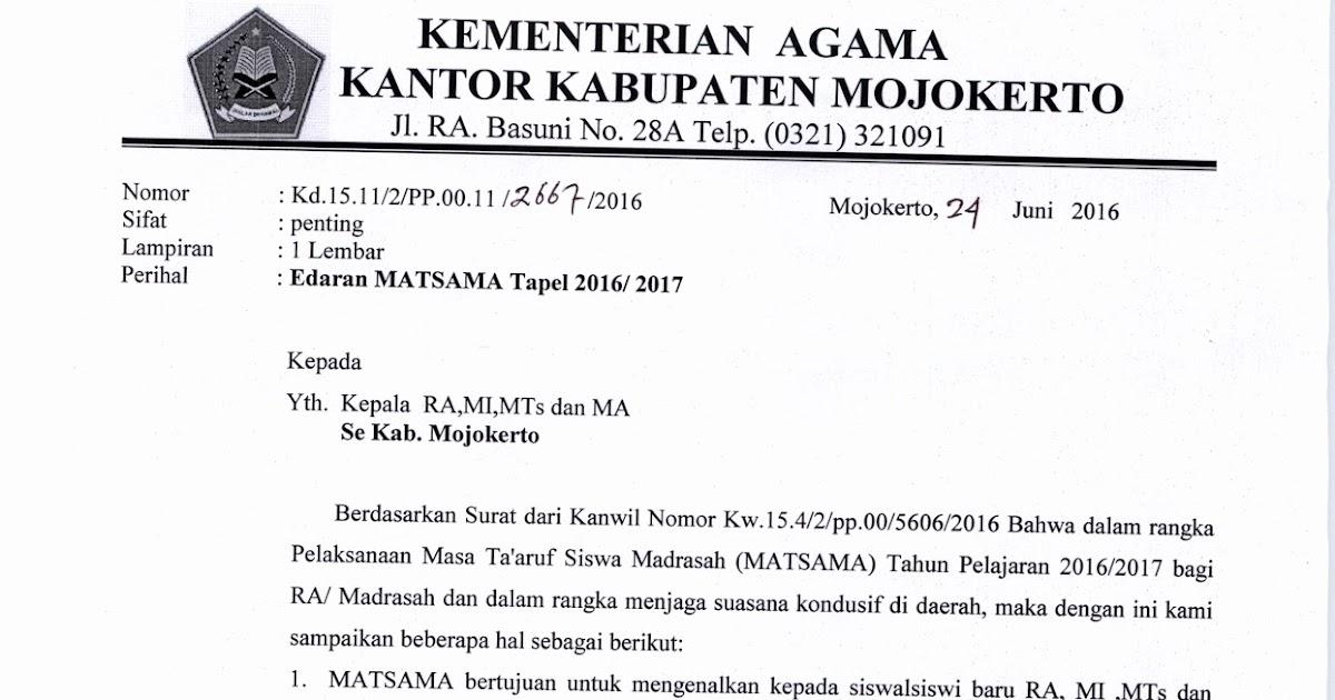 Mojokerto Pns Kenaikan Gaji Pns 2014 Sebesar 6 Persen September 2016 Pendma Kab Mojokerto Masa Taaruf Siswa Madrasah Matsama 2016