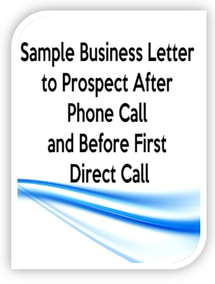 how to write proper business letter after a phone call and before first direct call