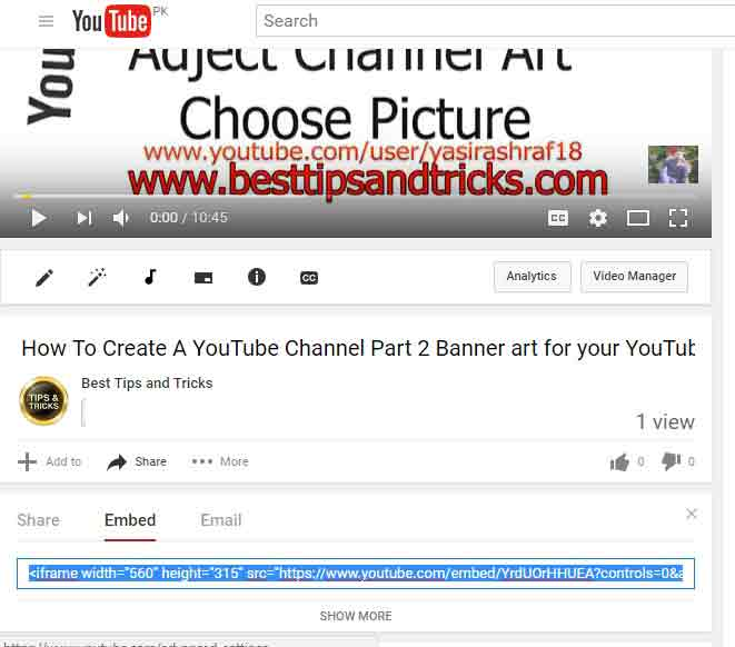 How To Embed a Youtube Video for Blog Facebook