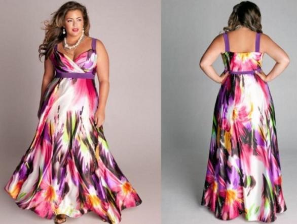 modelo de vestido estampado para gordinhas