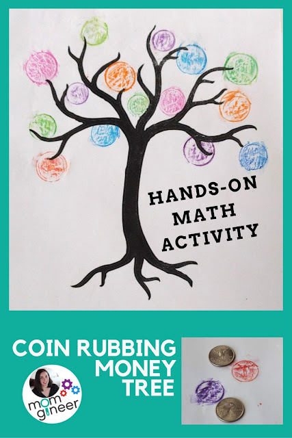 Coin rubbing money tree. Print a tree, place coins under the paper, and rub with crayons. | Meredith Anderson - Momgineer