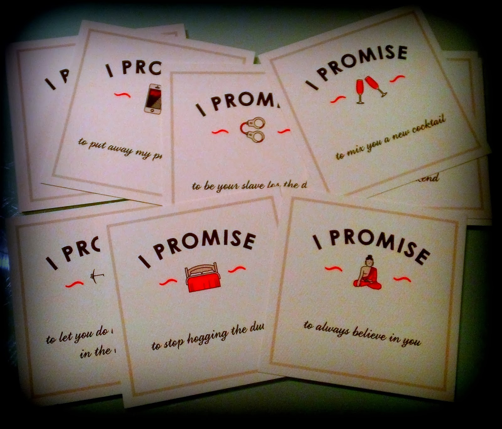 I Promise Cards, St Valentines Gifts, Valentine's Day, Presents for Women, Unusual Wedding Proposals, Cards
