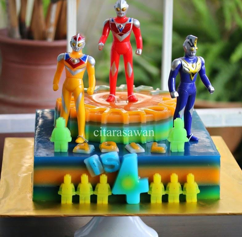 Jelly Cake Ultraman Buat Aqil 4 Tahun Blog Kakwan