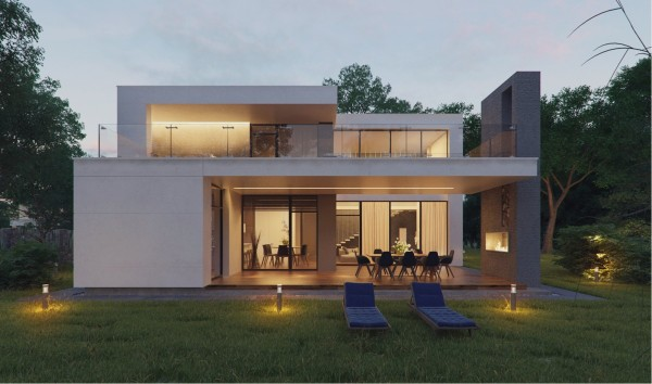Desain Rumah Modern Eksterior Minimalis