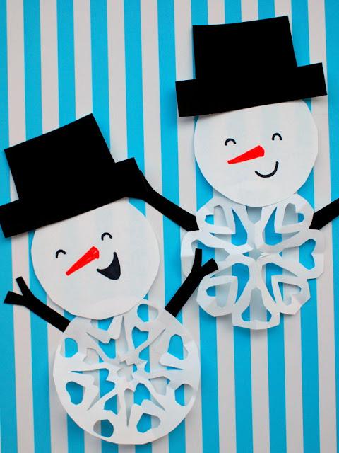 easy snowman snowflake